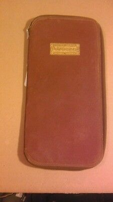 Antique  Leather? Valuable Papers Documents  Holder Alliance life ins chicago