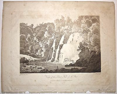 View of the Lower Fall of La Puce. G. Heriot 'Travels through the Canadas' 1807