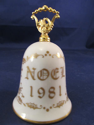 Vintage Collectible Noel Christmas Bell Porcelain by Gorham Fine China 1981