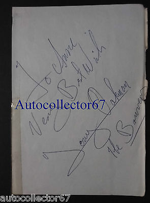 Vintage 1960s JOE BROWN and the BRUVVERS signed AUTOGRAPH book pages sixties