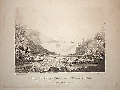 View Falls of Chaudière, nine Miles West.. Heriot 'Travels through Canadas 1807