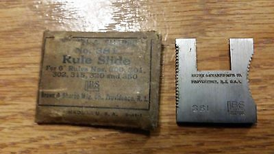 """Brown & Sharpe No. 381 Rule Slide NOS replacement 6"""" 300 301 302 315 320 350 USA"""