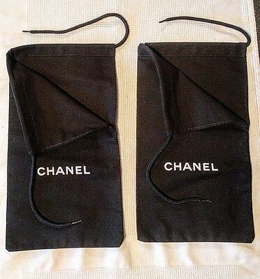 Two Chanel Shoe Dust Bags Size 33 X 18 Cm NEW