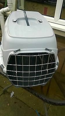 Pet Carrier Cage Dog Or Cat Kitten Puppy Travel Vet Transport Box, Medium Size.