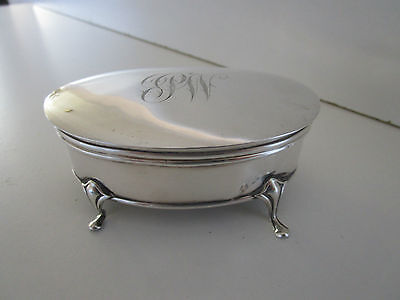 Sterling Silver Jewellery Box..Trinket..Hallmarked Chester 1916..