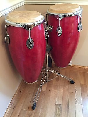 Performance Percussion Congas (Set of 2) with Stand