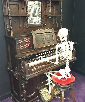 Antique Victorian Pump Organ 1800's with Stool - Pick Up Only