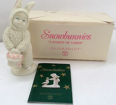"""Snowbunnies Easter Bunny """"A Basket of Cheer"""" Easter Dept 56 #56.05725"""
