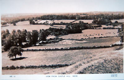 Real Photo  Postcard - View From Castle Hill,mere, Wiltshire
