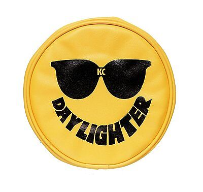 """KC HiLiTES 5205 Yellow Vinyl 6"""" Round Light Cover with Sunglasses - Set of 2"""