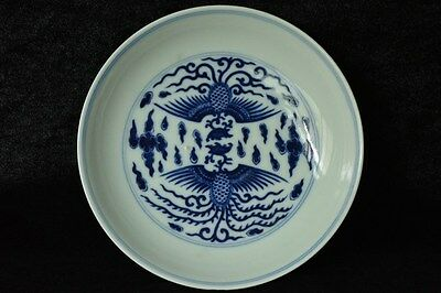 Fine Chinese Blue and White Dish Daoguang Mark