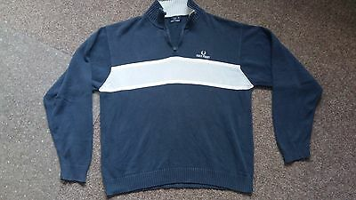 FRED PERRY Mens Zip Sweater/Jumper, Size XL