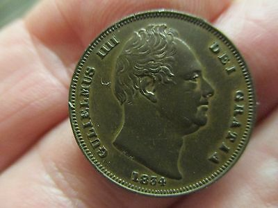 1834 Farthing.King William 1V  Uncirculated