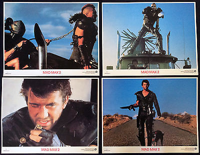 "Mad Max 2 - The Road Warrior - 8 US Lobbies * 11 x 14"" *Complete Set*  Gibson"