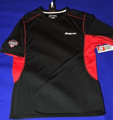 Snap On PERFORMANCE ELEMENT BODY SHIELD Shirt L LARGE Black Red and Silver NEW