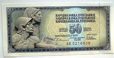 Small Banknote Yugoslavia 50 Dinara 12.08.1978 Unc Condition