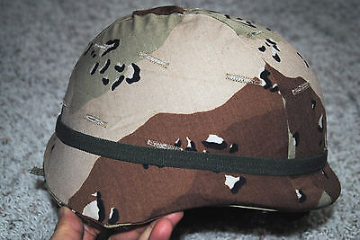 New Original Us Army Issue - Pasgt Helmet W/ Chocotale Chip Cover - X-Small