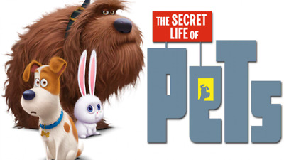 """Party Favors 2.5/""""x2.5/"""" each 25 Secret Life of Pets 2 Puppies Stickers"""