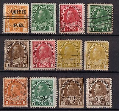 Canada King George V Collection Of Used Stamps