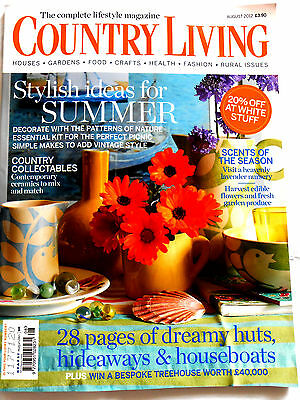 Country Living Magazine August 2012 vgc