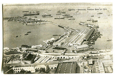 GIBRALTAR  -  Casemates, Waterport Gates and Mole.  c1910