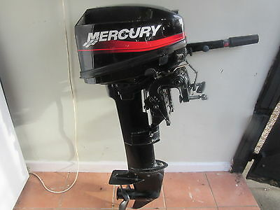 Mercury,6 Hp,long Shaft,outboard Engine,tiller,petrol Tank,2 Stroke,boat