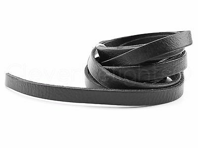 """Genuine Leather Strapping - 3/8"""" x 84"""" - Black - 5-6oz - Leathercraft Strap 10mm"""