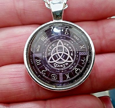 MAGNIFICENT PAGAN CALENDAR NECKLACE of *GOOD LUCK* WICCA WITCH DJINN CRAFT