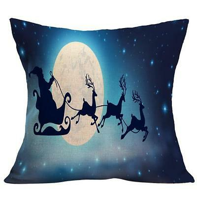Halloween Christmas Sofa Bed Home Decor Pillow Case Cushion Cover Night Witch