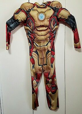 Marvel Iron Man 3 Childs Large 12 -14  Boys Classic Muscle Costume NO MASK