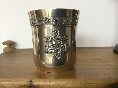 Antique Solid Silver Chinese Oriental Beaker