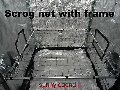 Scrog net with frame 1m x 1m  50mm net for grow tent plant training