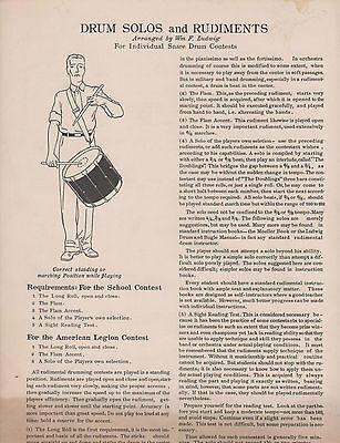 """Vintage Ludwig """"Drum Solos and Rudiments by Wm F. Ludwig"""" 1936"""