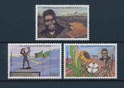 [51190] Zambia 1984 Independence Flags Sunflower MNH