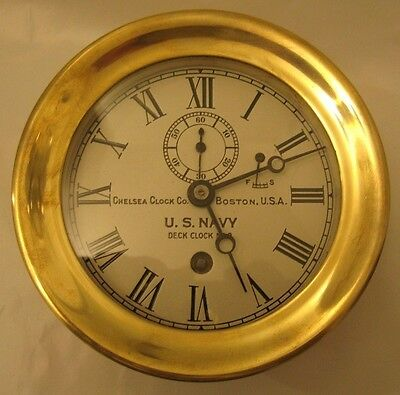 Chelsea Rare Navy Deck Clock No.2