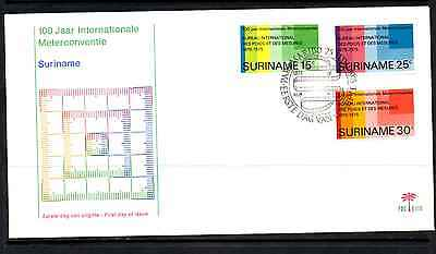 Suriname 1975 Fdc – 100Th International Metre Convention #a0026
