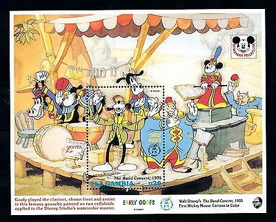 [54285] Gambia 1992 Disney Goofy Music band Concert MNH Sheet
