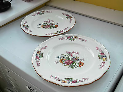 TWO 1920s MINTON DINNER PLATES IN  A FLORAL PATTERN