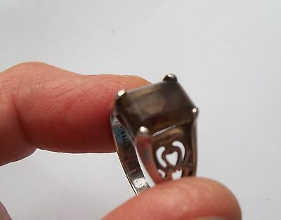 jewelry Vintage ring 925 Sterling silver Smoky brown topaz