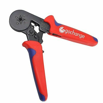 Crimper Pliers, GOCHANGE 0.25-6.0mm2 Insulated Ratchet Terminal Crimping Tool /