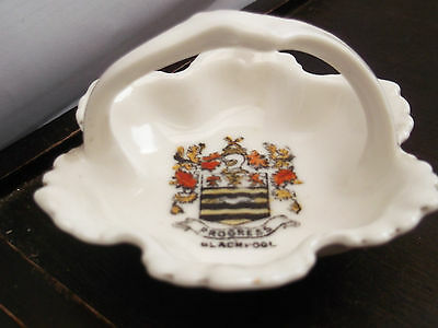 Small, Basket Shaped Pin Tray  By Gemma China  Crested  Blackpool