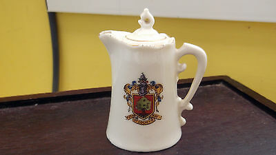 Model Of A Coffee Pot Crested Arms Of Colwyn Bay By Gemma Crested China