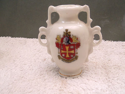 ?vintage Model Of A Vase With Twin Ornate Handles Crested Wolverhampton