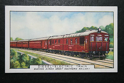 Buenos Aires Great Southern Railway   Deisel Unit   1930's Vintage Card