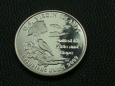 UNITED STATES    25  Cents    2009  -  S    PROOF  ,   U.S.  VIRGIN  ISLANDS
