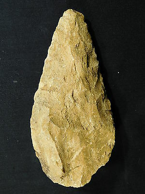 A BIG ONE! Million Year Old Early Stone Age ACHEULEAN HandAxe Mauritania 701gr