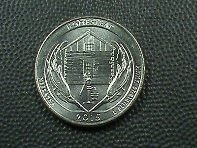 UNITED STATES  25 cents  2015  -  D   BRILLIANT  UNCIRCULATED  ,  HOMESTEAD