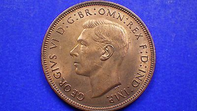 Lustrous King George VI 1938 penny AUNC - jwhitt60 coin collection
