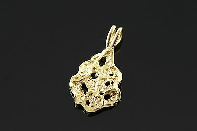 14K Nugget Cut Out Charm/Pendant Yellow Gold