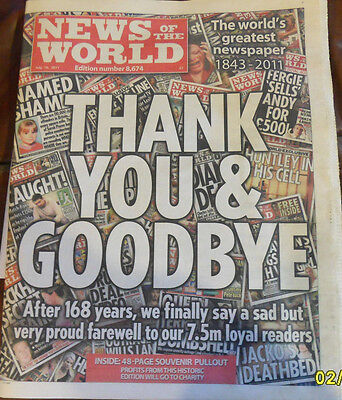 LAST EVER NEWS OF THE WORLD - JULY 10th 2011